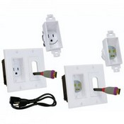 Midlite 2A46W3 In Wall Power Solution Kit/3ft