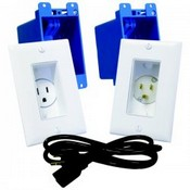 Midlite A46W 1 Gang Recessed Decor Receptacle Power Kit