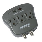 Minuteman MMS130C - 3-Outlet Surge Suppressor With Coax Protection