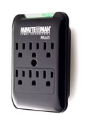 Minuteman MMS660S Slim, 6-Outlet Wall Tap, 1080 Joules