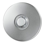 Broan - Nutone PB41LSN Wired Lighted Door Chime Push Button, Round, Satin Nickel Stucco Finish