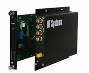 OT Systems FT400-SMR Digital Fiber Optic Video Receiver, 4-Channel, Card, Multi Mode, 1310nm