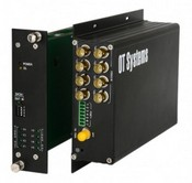 OT Systems FT810DB-SMR Digital Fiber Optic Receiver, 8-Channel Video, 1-Channel Data, Card, Multi Mode