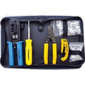 Platinum Tools 90109 All-In-One Modular Plug Kit with Nylon Zip Case
