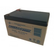 Powersonic PS-12120F2 12 Volt/12 Amp Hour Sealed Lead Acid Battery with 0250 Fast-on Connector