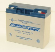 Powersonic PS-12180F2 12 Volt/18 Amp Hour Sealed Lead Acid Battery with 0250 Fast-on Connector