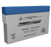 Powersonic PS1221S 12 Volt 20 AH, F1 Terminals, Rechargeable Sealed Lead Acid Battery