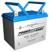 Powersonic PS-12330 12 Volt 35 Amp Hrs Rechargeable Sealed Lead-Acid Battery