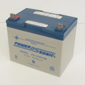 Powersonic PS-12350NB 12 Volt/35 Amp Hour Sealed Lead Acid Battery with Nut-Bolt Connector