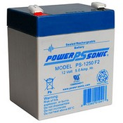 Powersonic PS-1250F2 Sealed Lead Acid Battery 12V 5Ah
