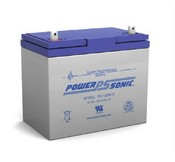 Powersonic PS-12550U 12V 55 Ah Rechargeable SLA Battery