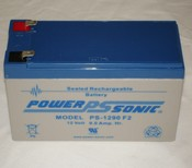 Powersonic PS-1290F2 12 Volt/9 Amp Hour Sealed Lead Acid Battery with 0250 Fast-on Connector