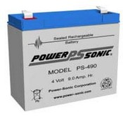 Powersonic PS-490 Rechargeable Sealed Lead-Acid Battery