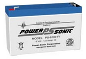 Powersonic PS-6100F2 6v 12Ah Lead Acid Battery