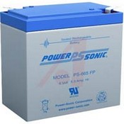 Powersonic PS-665 6 VDC; Lead Acid; 6.5; Rechargeable; 6 VDC; 2.1 lbs.; -40 degC; 60 de