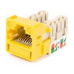 Commscope UNJ600-YL | CC0020842/1 Category 6 Jack, UNJ600, U/UTP, Information Outlet, Yellow