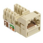 Commscope UNJ500-CM | CC0020545/1 Uniprise UNJ500 Category 5e U/UTP Information Outlet, misty cream