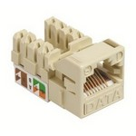 Commscope UNJ500-WH-100PK | CC0030700/100 Uniprise UNJ500 Category 5e U/UTP Information Outlet, white, 100 pack