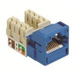 Commscope UNJ500-BL-100PK | CC0030684/100 Uniprise UNJ500 Category 5e U/UTP Information Outlet, blue, 100 pack