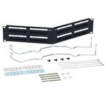 Commscope 1100AGS348ANGLEDWTERMINATIONMG | 760066571 Patch Panel, 48 Port, UTP, Category 6, Angled, 2U, Loaded, 8-6 Port GigaSPEEDModules, Termination Manager, Black