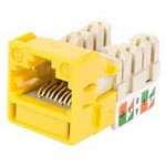 Commscope UNJ500-YL-100PK | CC0055202/100 Uniprise UNJ500 Category 5e U/UTP Information Outlet, yellow, 100 pack