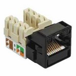 Commscope UNJ500-BK-100PK | CC0054882/100 Uniprise UNJ500 Category 5e U/UTP Information Outlet, black, 100 pack