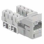 Commscope UNJ500-GY-100PK | CC0055160/100 Uniprise UNJ500 Category 5e U/UTP Information Outlet, gray, 100 pack
