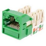 Commscope UNJ600-GR-100PK | CC0055244/100 Uniprise UNJ600 Category 6 U/UTP Information Outlet, green, 100 pack