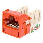Commscope UNJ600-OR-100PK | CC0030650/100 Uniprise UNJ600 Category 6 U/UTP Information Outlet, orange, 100 pack