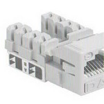 Commscope UNJ500-IV-100PK | CC0030718/100 Uniprise UNJ500 Category 5e U/UTP Information Outlet, ivory, 100 pack