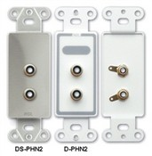 Radio Design Labs DPHN2 Dual RCA Jacks on Decora® Wall Plate