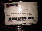 Remee Wire & Cable R001539WBPOLYM1B  RG59 18 AWG 2 Conductor