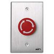Rutherford Controls 919MA28 919MA Red Arrow Mushroom Button