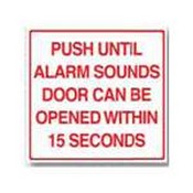 Rutherford Controls BC2M English Mylar Emergency Exit Unlock