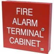 Space Age Electronics SSU00645 TC2 32 Point Terminal Cabinet, 14 X 14 X 3.5, Red/Wht Letters