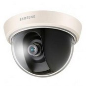 "Samsung SCD-2010B, Analog Dome, 1/3"" Super HAD CCD, 600TV Lines, Electronic Day Night, 3mm Fixed Lens, Surface Mount, 12 VDC, Black Exterior"