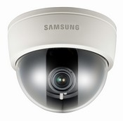 "Samsung SCD-2060E Analog Dome, 1/3"" Super HAD CCD, 600TV Lines, Electronic Day Night, 3.7mm & 8mm Lenses Included, Surface Mount, 24 VAC/12 VDC, Black Exterior"