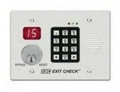 Security Door Controls 101-KDE Wall Mount Controller With Keypad & Keyswitch Control And Reset, 180 mA @ 12/24 VDC