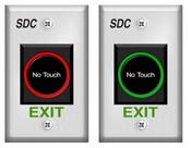 Security Door Controls 474 Sanitary Touchless Exit Switch DPDT Dry Contact