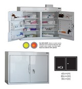 Security Door Controls MC4 Cabinet with DOUBLE doors 6 shelves/5 door trays/2 doors