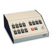 Security Door Controls TCC SDC Control/Annunciator Console, Desk Top Slope Front (Beige/Black)