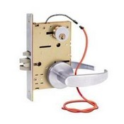 Security Door Controls Z7852LRQRE Selectric Pro™ Electrified Mortise Lockset, Locked Outside Only, Failsecure, 12/24VDC, Left Hand Reverse, Dull Chrome (standard), Request-to-exit, Eclipse Trim