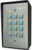 Seco Larm SK-1123-SQ 110 Users, Two Relays, Surface-Mount Weather-Resistant, Rugged Illuminated Stand-Alone Keypad