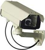 Seco Larm VD-10BN Dummy Security Camera Includes Battery-Powered Led, Mounting Bracket And Mounting Hardware
