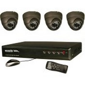 Security Labs SLC1054 Turret Dome Camera with 24 IR Leds (Black)