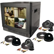 Security Labs SLM426C Color Quad Observation System With 4 Cameras