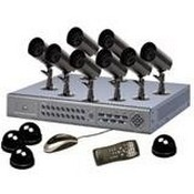 Security Labs SLM431 6-Channel DVR with 8 Outdoor Bullet Cams and 4 Dummy Domes