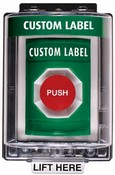 Safety Technology SS2154 Green Stopper Station Pushbutton with 65-25 Cover