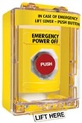 Safety Technology SS2271PO Yellow Pushbutton with 6545 Cover Power-Off