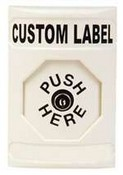 Safety Technology SS-2300 Stopper Station, White, Key in Octagonal Button - Custom Label